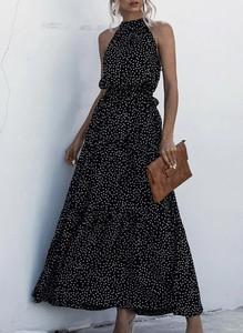 Sukienka Sandbella z dekoltem w kształcie litery v maxi bez rękawów