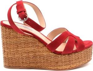 Sandały Prada z zamszu