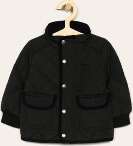 Czarna kurtka dziecięca Name it z bawełny