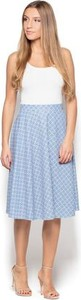 Niebieska spódnica Katrus midi w młodzieżowym stylu