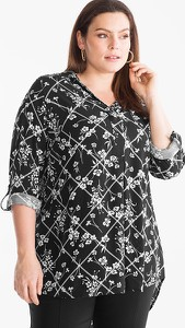 Czarna bluzka YESSICA z długim rękawem