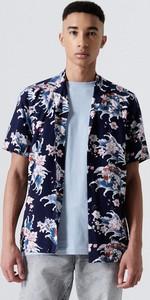 Koszula Cropp z klasycznym kołnierzykiem w młodzieżowym stylu z nadrukiem