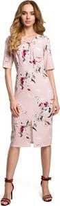 Różowa sukienka MOE midi