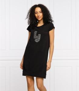 Czarna sukienka Liu-Jo z krótkim rękawem w stylu casual
