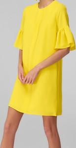 Żółta sukienka Trendyol z krótkim rękawem mini
