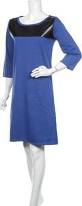 Niebieska sukienka Longboard w stylu casual mini z długim rękawem