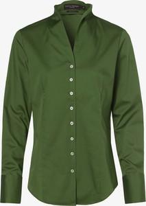 Zielona koszula Franco Callegari w stylu casual z dekoltem w kształcie litery v