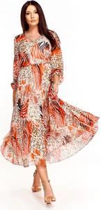 Sukienka Rossa z okrągłym dekoltem maxi