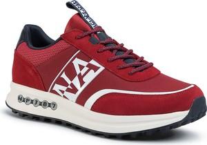 Buty sportowe Napapijri sznurowane ze skóry ekologicznej