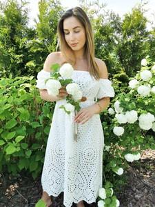Sukienka Perfe hiszpanka z bawełny