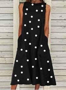 Sukienka Cikelly bez rękawów z okrągłym dekoltem mini