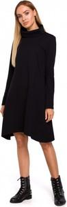 Sukienka MOE w stylu casual z golfem z długim rękawem