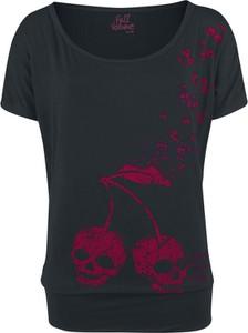 Czarny t-shirt Full Volume By Emp w stylu casual