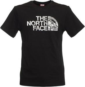 Czarna bluzka The North Face z okrągłym dekoltem z bawełny