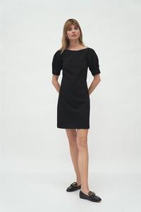 Czarna sukienka Nife mini w stylu casual
