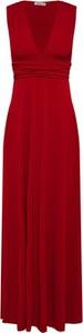 Sukienka WAL G. z dekoltem w kształcie litery v maxi z dżerseju
