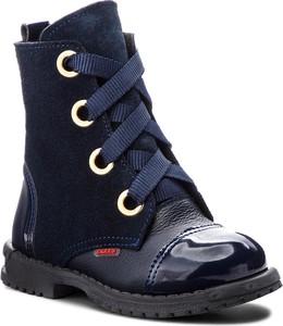 Buty zimowe Zarro sznurowane z zamszu