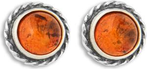 Ambertic-sx Kolczyki z koniakowym bursztynem