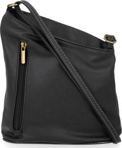 Czarna torebka VITTORIA GOTTI na ramię ze skóry w stylu glamour