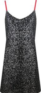 Sukienka DKNY z dekoltem w kształcie litery v na ramiączkach trapezowa
