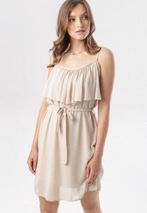 Sukienka born2be mini na ramiączkach