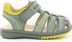 Buty dziecięce letnie Kickers na rzepy ze skóry