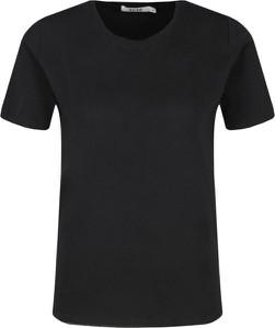 Czarny t-shirt NA-KD z krótkim rękawem