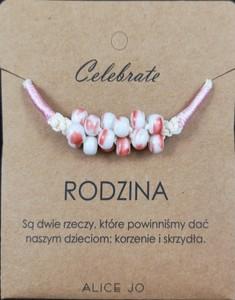 Alice Jo Bransoletka Celebrate różowa RODZINA