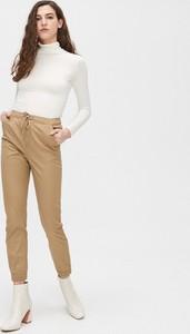 Brązowe spodnie Cropp w sportowym stylu z dresówki