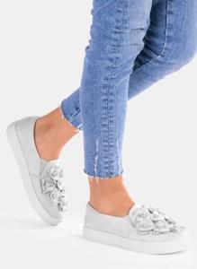 Deezee szare ozdobne buty sportowe soma