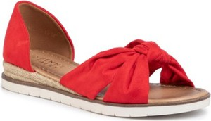 Czerwone sandały Jenny Fairy w stylu casual