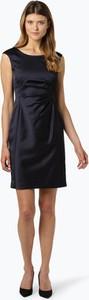 Granatowa sukienka Ambiance mini z satyny