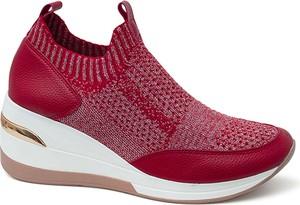 Czerwone buty sportowe ARTIKER RELAKS z płaską podeszwą