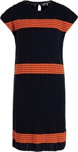 Sukienka Tommy Hilfiger mini z krótkim rękawem z okrągłym dekoltem