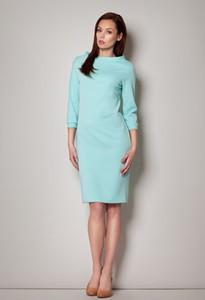 Miętowa sukienka Figl midi