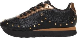 Czarne buty sportowe Desigual na platformie