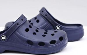 Granatowe buty letnie męskie Flameshoes
