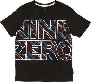 Czarna koszulka dziecięca Jack & Jones Junior z bawełny