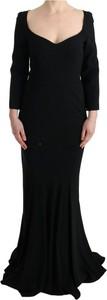 Sukienka Dolce & Gabbana maxi z jedwabiu