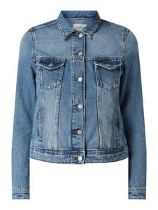 Niebieska kurtka Review w stylu casual krótka z jeansu
