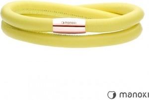 Manoki BA510RPY żółta bransoletka damska ze skóry