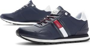 Granatowe buty sportowe Tommy Hilfiger sznurowane