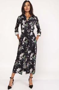 Sukienka Lanti maxi z długim rękawem