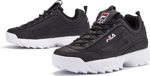 Buty sportowe Fila sznurowane ze skóry w street stylu