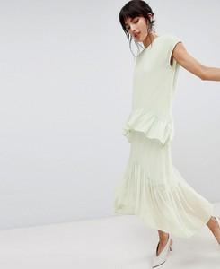 Niebieska sukienka Vero Moda maxi oversize