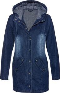 Granatowa kurtka bonprix bpc selection z bawełny