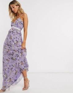 Fioletowa sukienka Forever U maxi na ramiączkach