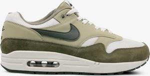 Zielone buty sportowe Nike air max z płaską podeszwą sznurowane