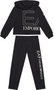 Czarny dres dziecięcy Emporio Armani