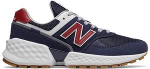Niebieskie buty sportowe New Balance sznurowane z zamszu 574